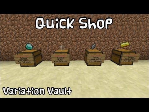 Minecraft Bukkit Plugin - Quick Shop - Create fast and easy to use shops with chests