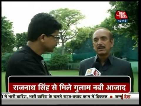 Kashmir flooods: Ghulam Nabi Azad meets Rajnath Singh