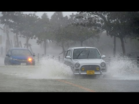 Typhoon Vongfong churns toward Japanese Okinawa Islands