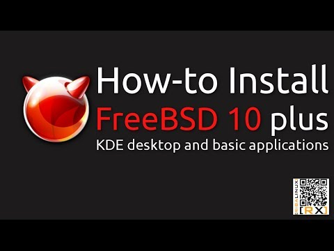 How-to Install FreeBSD 10 plus KDE desktop and basic applications [HD]