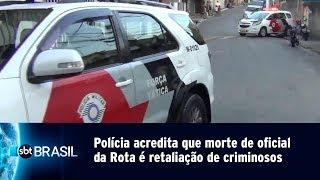 Polícia acredita que morte de oficial da Rota é retaliação de criminosos | SBT Brasil (06/05/19)