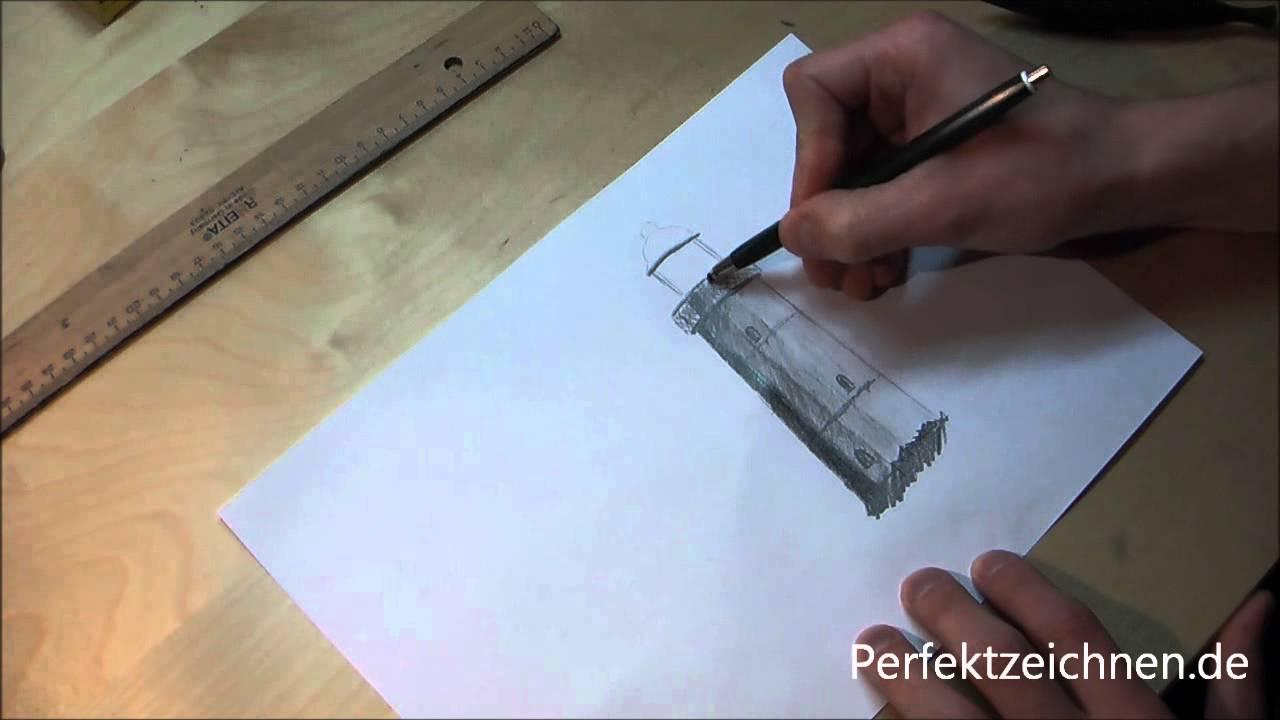 zeichnen lernen online landschaftsbilder leuchtturm in landschaft zeichnen lernen youtube. Black Bedroom Furniture Sets. Home Design Ideas