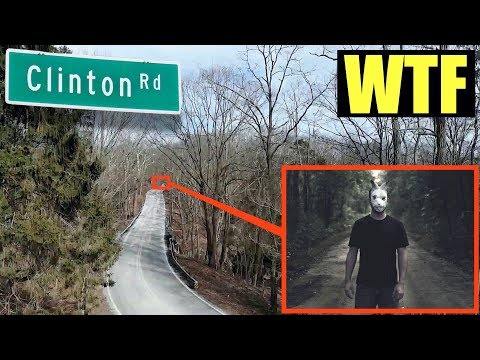 (disturbing) you will never believe what my drone found on Clinton Road (world's most haunted road)