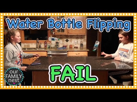 WATER BOTTLE FLIPPING FAIL!
