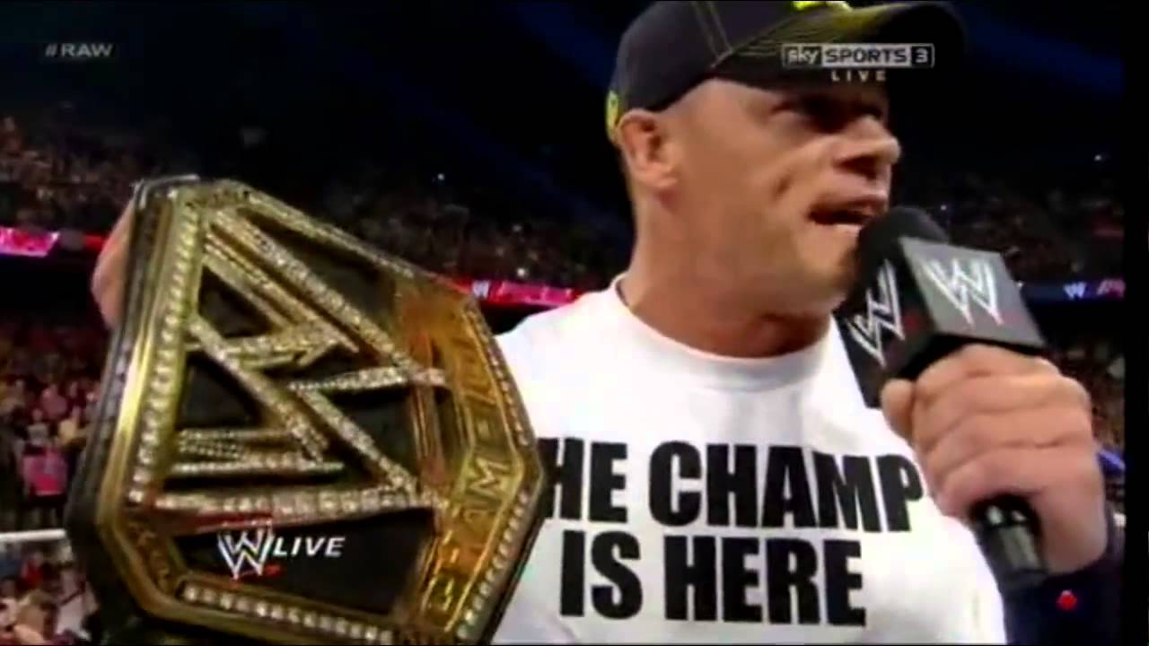 """John Cena After Payback """"The Champ Is Here"""" - WWE RAW 17 ...  John Cena After..."""