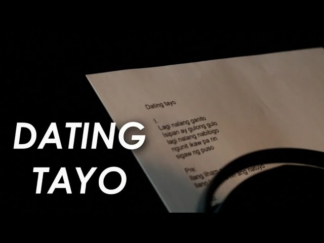 TJ Monterde - Dating Tayo - (Lyric Video)