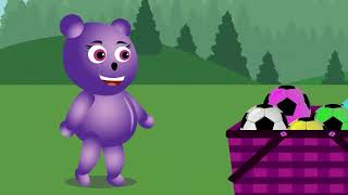 Mega Gummy Bear Baby Learn Doing good job Funny Story   The Finger Family Cartoon for Children