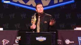 WWE WrestleMania XXVII Press Conference  The Miz.