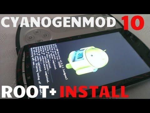Xperia Play ROOT+ INSTALL CYANOGENMOD10 JB 4.1.2