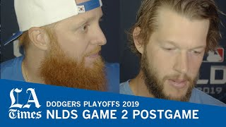 Clayton Kershaw and Justin Turner on the Dodgers NLDS Game 2 loss