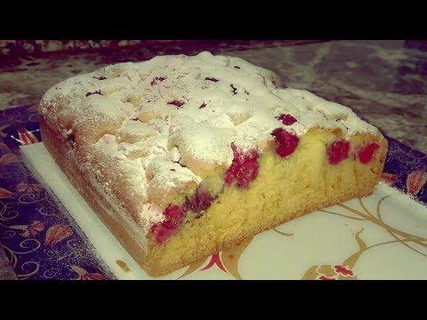 Пирог с вишней на кефире Вишневый пирог простой рецепт Рецепт пирога с вишней/черешней.