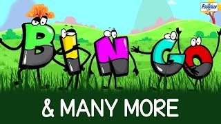 B I N G O And Bingo Was His Name O & Many More - English Nursery Rhymes Songs With Lyrics And Action