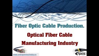 Fiber Optic Cable Production. Optical Fiber Cable Manufacturing Industry