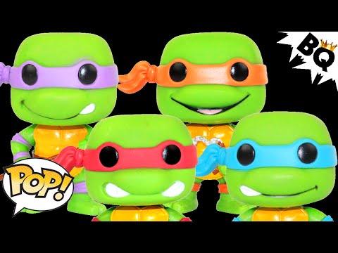 NInja Turtles Raphael Leonardo Michelangelo Donatello TMNT POP! Vinyl Figures