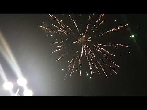 Szilveszteri tűzijáték Budapest 00:00-kor