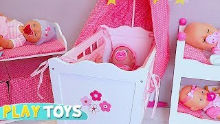 Baby Born Dolls Crying! Are You Sleeping Song for Kids and Toddlers by Play Toys Pretend Doll Play.