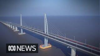 China's new mega bridge from Hong Kong to Macau