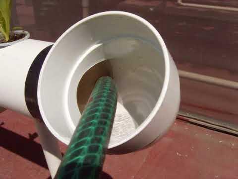 sistema de cultivo hidropónico casero NFT