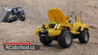 Stavebnice Sklápěč  Dump Truck 638 dílků + Pick Up - auto na dálkové ovládání