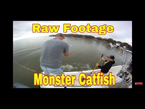 Femal Guide Teri w/ Lake Tawakoni Monster Catfish **RAW FOOTAGE** 903.441.3937