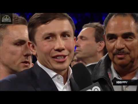 ABOUT THIS VIDEO - � Gennady Golovkin enters the ring after Canelo Alvarez's win over Julio Cesar Chavez Jr., as Canelo vs. Golovkin is officially announced for September 16th. Please...