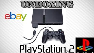 Unboxing Ebay PlayStation 2 Console Slim PS2 with 3 games HD 1080P