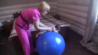 Упражнения на фитболе для грудничков от Юлии Ермак