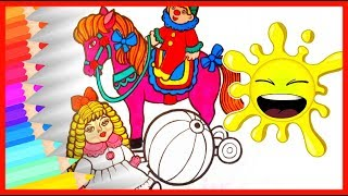 HOW TO DRAW Coloring Book Toys for Children  🔴 Fun Rainbow