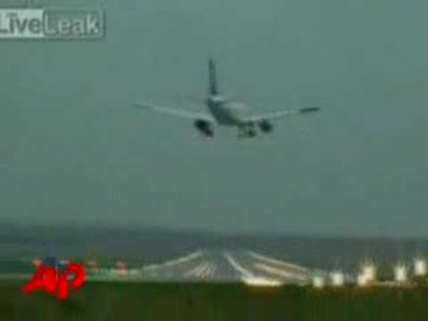 Raw Video: Jet s Near Crash in Germany