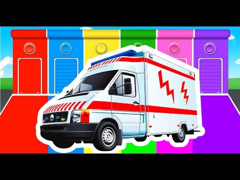 Learn Colors with Cars & Trucks Color Vehicles for Children Kids - Learning Colours for Toddlers