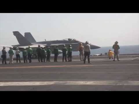 ARABIAN GULF!  F/A-18 Super Hornets Respond to ISIL Activities in Iraq!
