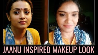 Trisha 96 Jaanu Inspired Makeup Look tutorial