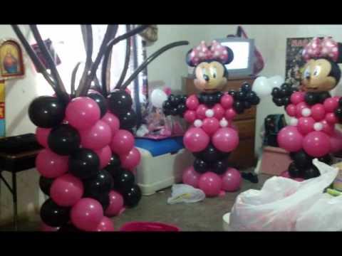 Decoraciones con globo estilo mimi mause por deissy - Globos para fiesta ...