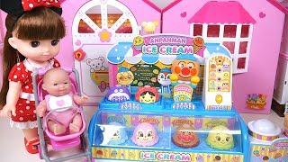 Baby Doll Anpanman Ice Cream Shop Toy Soda