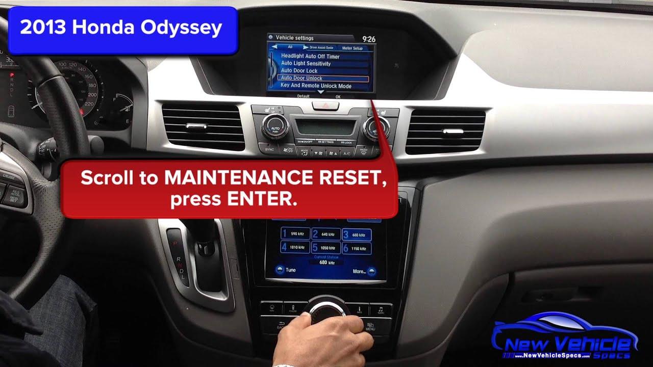2013 Honda Odyssey Oil Light Reset - YouTube