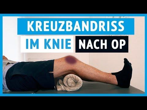 Kreuzbandriss im Kniegelenk - Erste Übungen (nach OP)