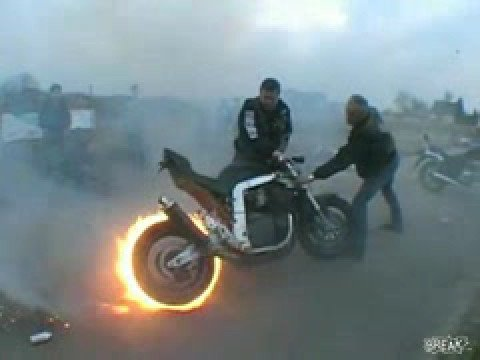 Motorrad Burnout Fireburnout Amazing