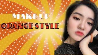 [BÀ BÙI] MAKE UP WITH ME - ORANGE EYE   Trang điểm cute girl