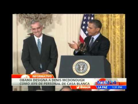 Denis McDonough es designado como nuevo jefe de Gabinete en la Casa Blanca