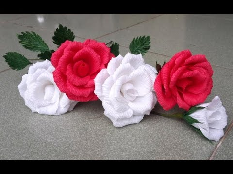 Abc Tv How To Make Rose Paper Flower From Crepe Paper Craft