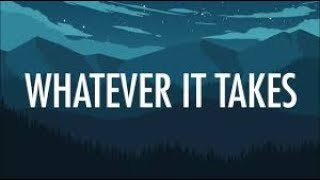Imagine Dragons - Whatever it takes tipografia
