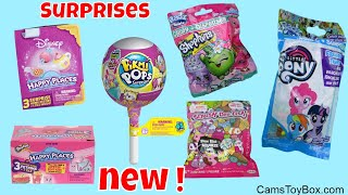 Blind Bags Opening Disney Shopkins Happy Places Pikmi Pops Squish Dee Lish Slow Rise Toy Surprises