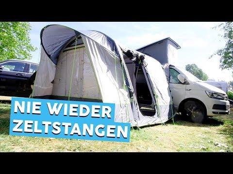 AUFBLASBARES BUSVORZELT | Obelink Test | Campingzubehör | Werbevideo