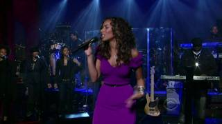 Leona Lewis - Bleeding Love HD Late Show With David Letterman