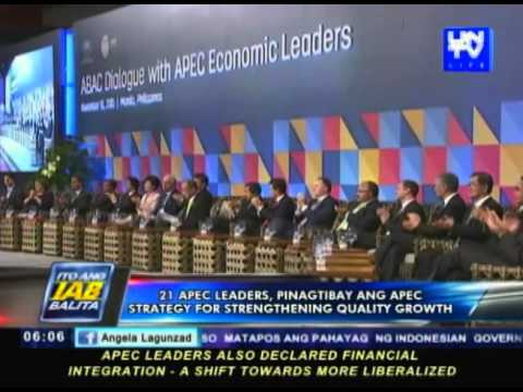 APEC leaders, pinagtibay ang Strategy for Strengthening Quality Growth
