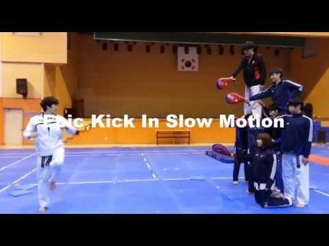 Taekwondo kick gif