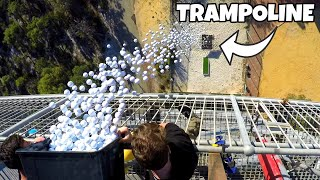 1700 GOLF BALLS VS. TRAMPOLINE from 45m!