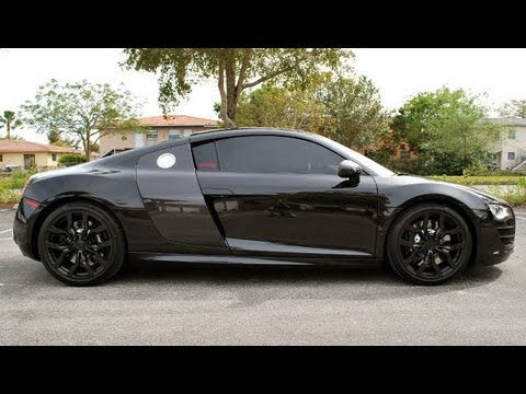 Audi R8 V10 Gloss Black Wheels - Plasti Dip DipYourCar