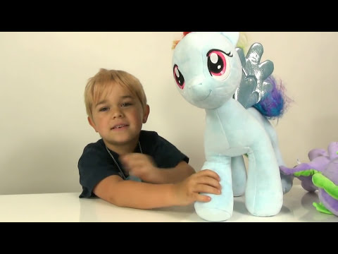 My Little Pony Build A Bear Rainbow Dash and Spike Review