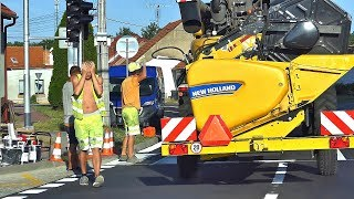 New Holland CR 9.80   problém na přechodu crosswalk incident